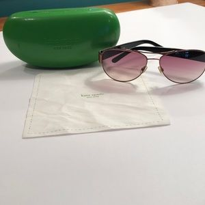 Kate spade rose gold aviator sunglasses w/ animal